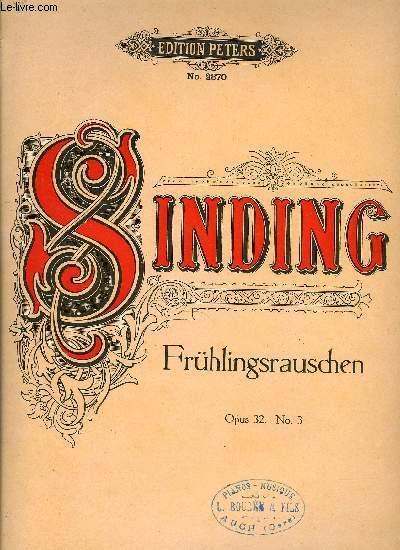 FRUHLINGSRAUSCHEN (GAZOUILLEMENT DU PRINTEMPS - RUSTLE OF SPRING)