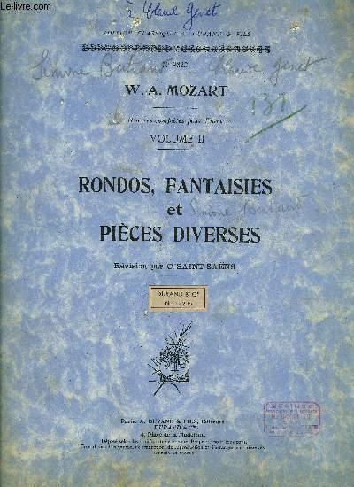 RONDOS, FANTAISIES ET PIECES DIVERSES VOLUME II