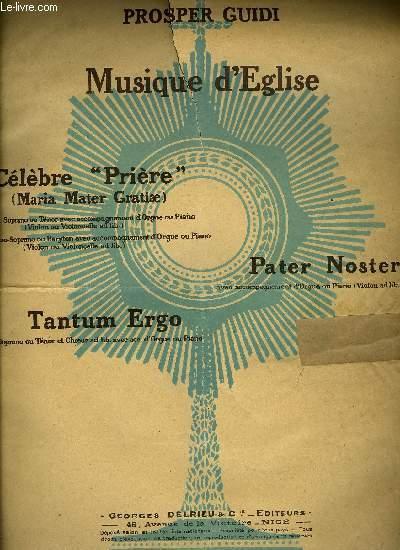 PRIERE (MARIA MATER GRATIAE)