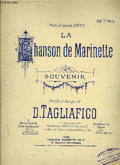 LA CHANSON DE MARINETTE