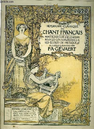 REPERTOIRE CLASSIQUE DU CHANT FRANCAIS N°312