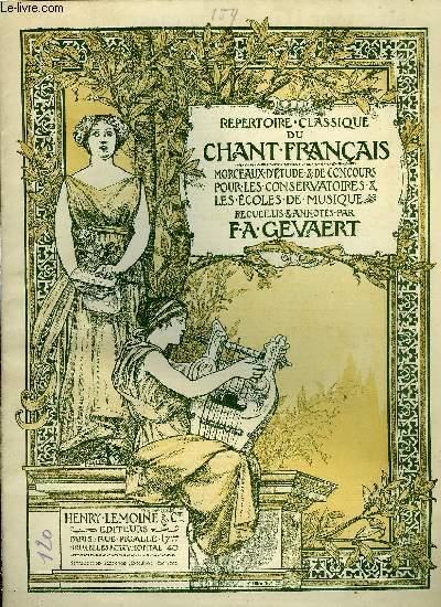 REPERTOIRE CLASSIQUE DU CHANT FRANCAIS N°159
