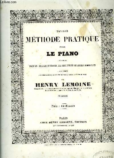 PETITE METHODE PRATIQUE POUR LE PIANO