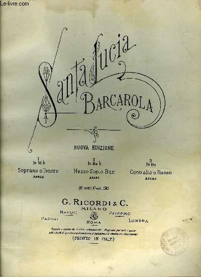SANTA LUCIA, BARCAROLA