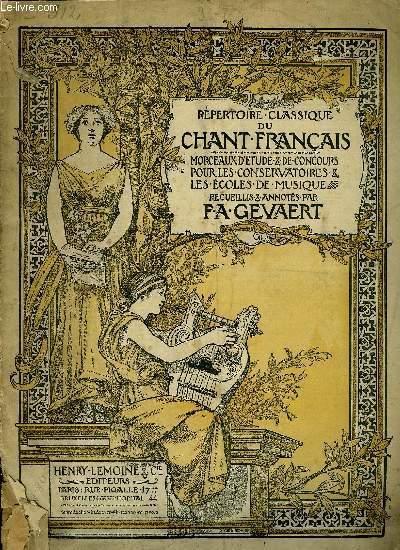 REPERTOIRE CLASSIQUE DU CHANT FRANCAIS N°36, 37 ET 38