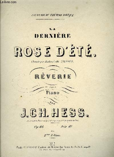 LA DENIERE ROSE D'ETE