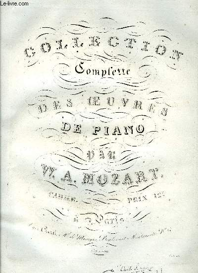 COLLECTION COMPLETE DES OEUVRES DE PIANO