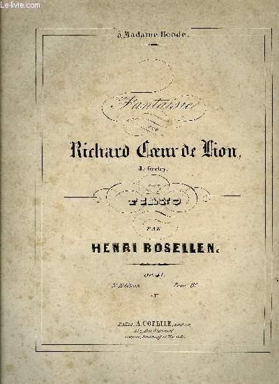 FANTAISIE SUR RICHARD COEUR DE LION