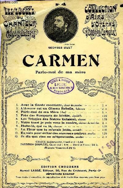 CARMEN, PARLE-MOI DE MA MERE
