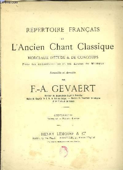 REPERTOIRE FRANCAIS DE L'ANCIEN CHANT CLASSIQUE VOLUME 10EME