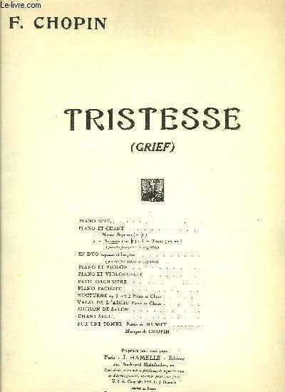 TRISTESSE (GRIEF)