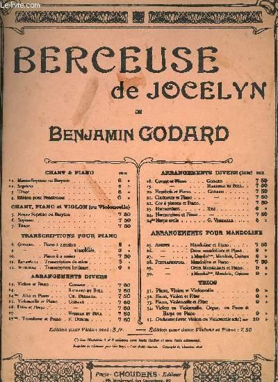 BERCEUSE DE JOCELYN