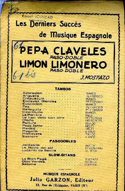 PEPA CLAVELES / LIMON LIMONERO