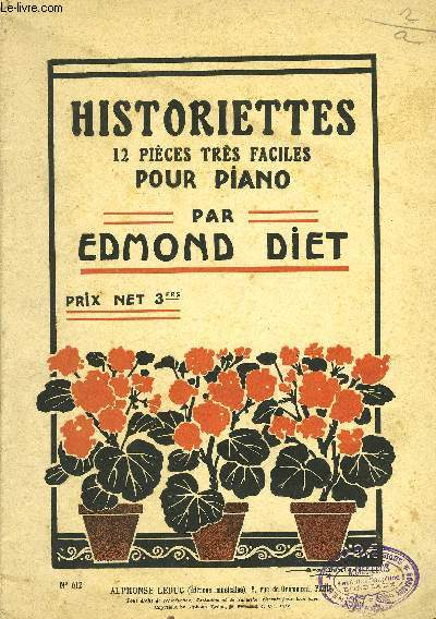HISTORIETTES, 12 PIECES TRES FACILES POUR PIANO