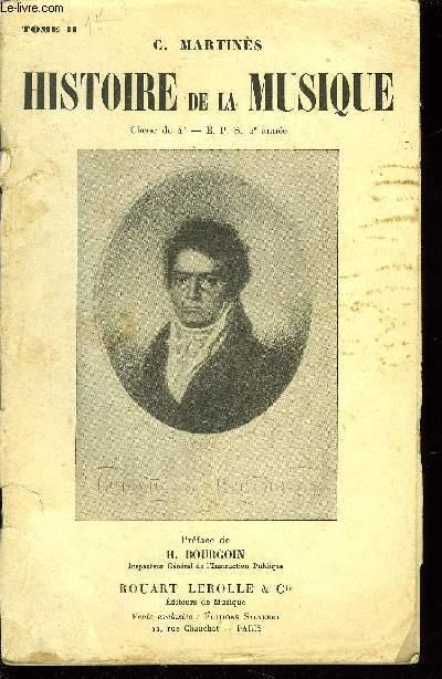 HISTOIRE DE LA MUSIQUE TOME II
