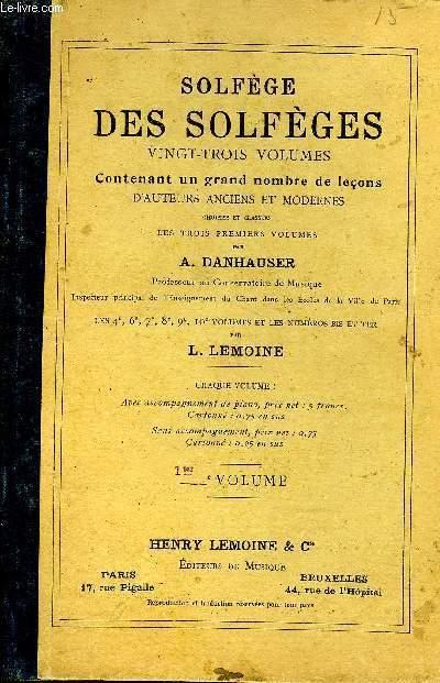SOLFEGE DES SOLFEGES 1TER VOLUME