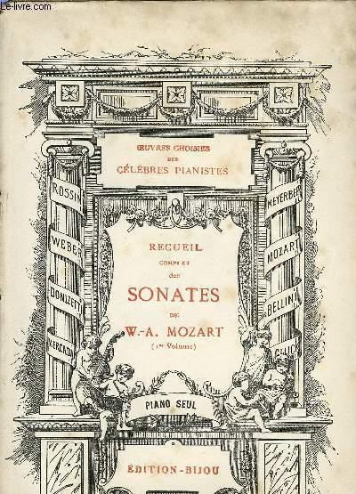 RECUEIL COMPLET DES SONATES DE W.-A. MOZART IER VOLUME