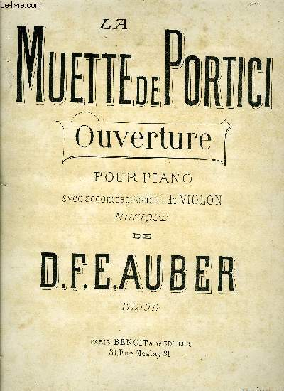 LA MUETTE DE PORTICI, OUVERTURE