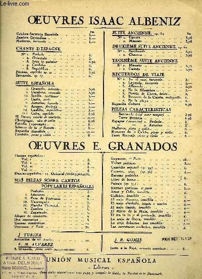 GRANADOS, DANZAS ESPAÑOLAS VOL. IV