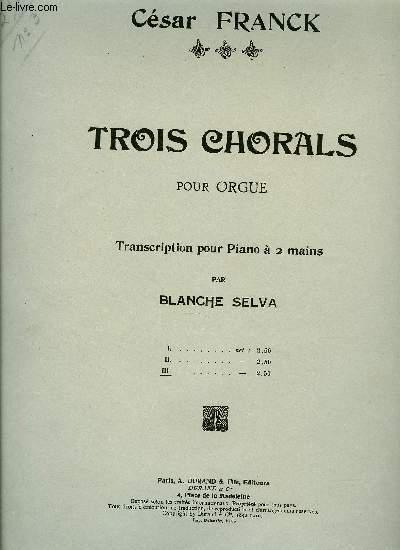 TROIS CHORALS