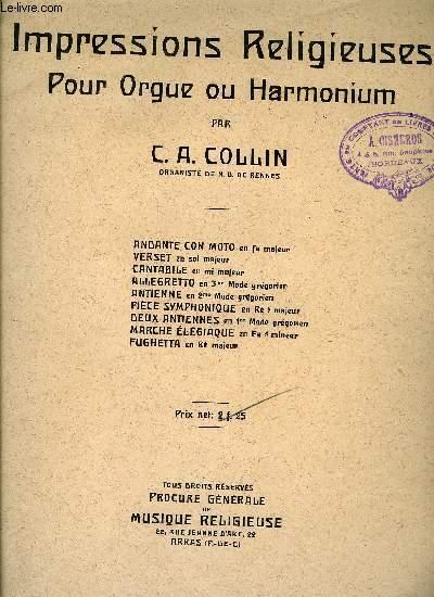 IMPRESSIONS RELIGIEUSES POUR ORGUE OU HARMONIUM