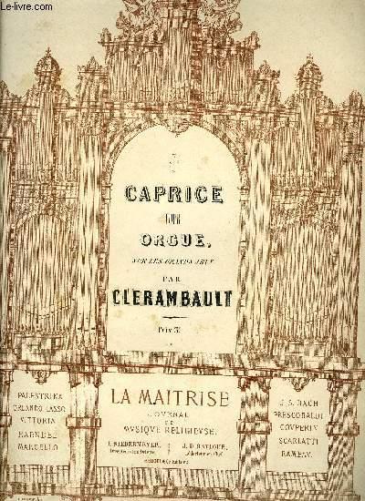 CAPRICE POUR ORGUE