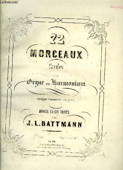 72 MORCEAUX FACILES POUR ORGUE OU HARMONIUM