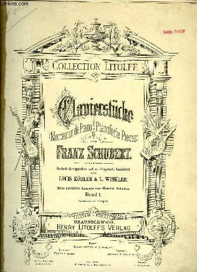 CLAVIERSTUCKE (MORCEAUX DE PIANO - PIANOFORTE PIECES)