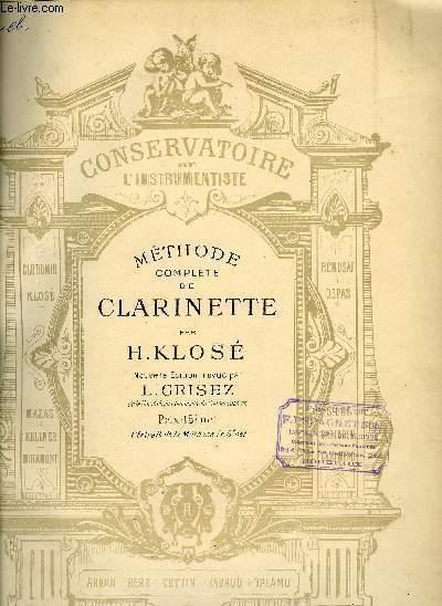 Méthode complète de clarinette