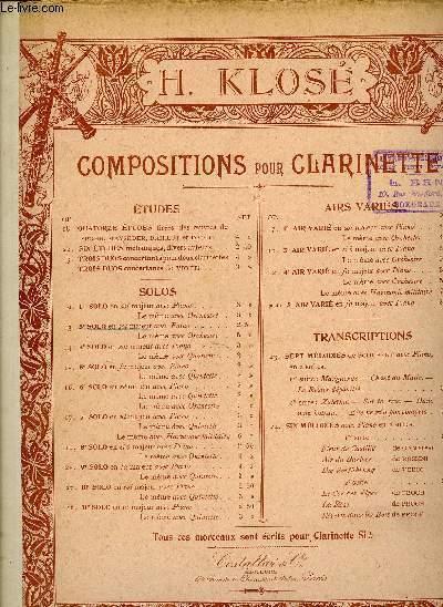 Composition pour Clarinette