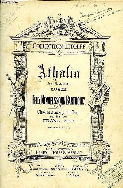 ATHALIA DES RACINE - COLLECTION LITOLFF