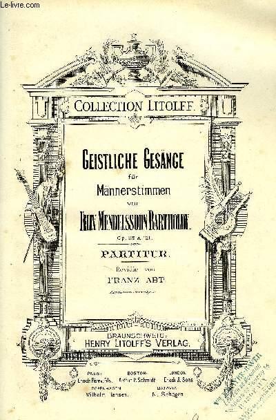 GEISTLICHE GESÄNGE - Collection Litolff