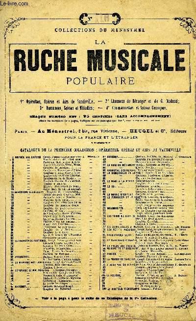 ROMANCE DE MIGNON. LA RUCHE MUSICALE N°116