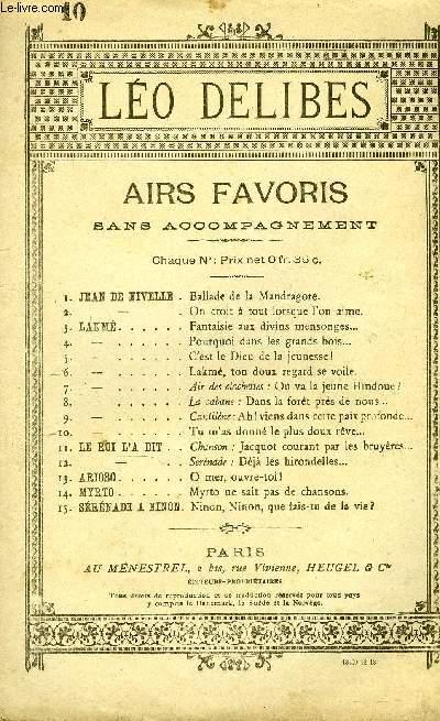 LAKME. AIRS FAVORIS SANS ACCOMPAGNEMENT