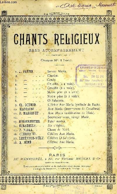 AVE MARIA - CHANT RELIGIEUX