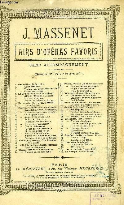 WERTHER - AIRS D'OPERAS FAVORIS