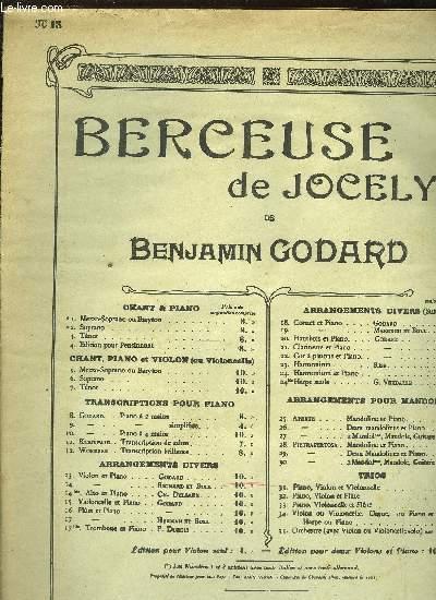 BERCEUSE DE JOCELYN 2 partition dont une pour violon