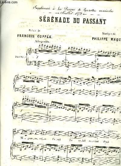 SERENADE DU PASSANT / supplément à la Revue et Gazette   musicale MUSIQUE DE PHILLIPE MAQUET