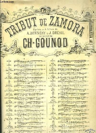 LE TRIBUT DE ZAMORA OPERA EN QUATRE ACTES de A.Dennery & J.Bresil N°25 ter ROMANCE EXTRAITE DU TRIO pour mezzo-soprano et piano