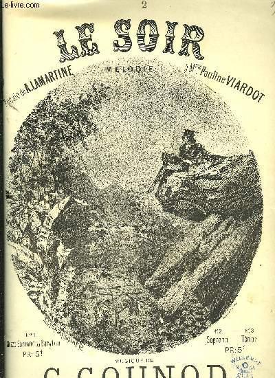 LE SOIR N°2 pour soprano et piano poésie de A.Lamartine