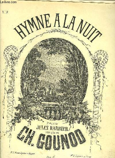 HYMNE A LA NUIT N°2 SOPRANO OU TENOR poésie de J.Barbier