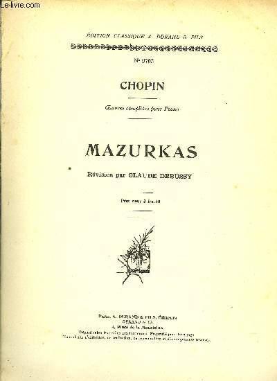 MAZURKAS oeuvres complètes pour piano