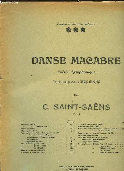 DANSE MACABRE pour piano