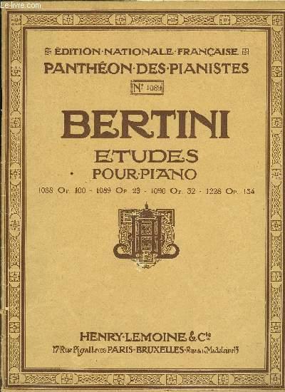 ETUDES POUR PIANO N°1089 OP.29 25 ETUDES introductions à celles de Cramer