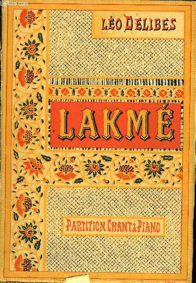 LAKME /PARTITION ET CHANT