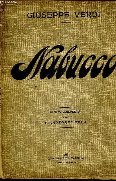 NABUCCO OPERA COMPLETA PER PIANOFORTE SOLO