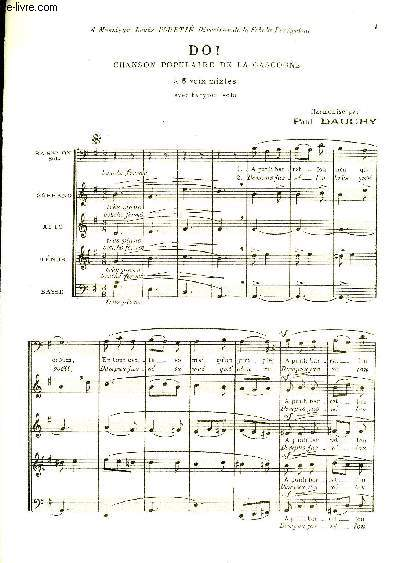 DO! chanson populaire d ela gascogne à 5 voix mixtes (baryton, soprano, alto, ténor et basse)