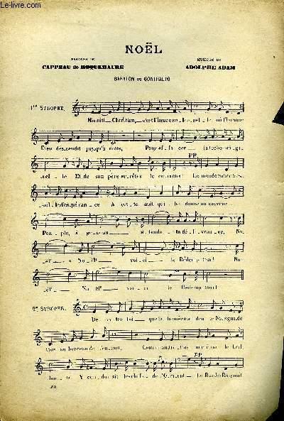 NOEL partition pour le chant pour baryton ou contralto