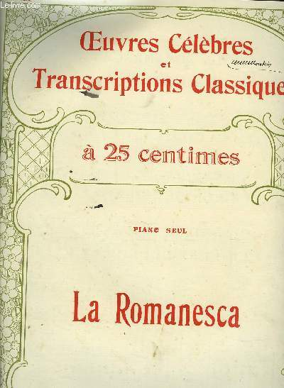 LA ROMANESCA  air de danse fin du XVIe siècle