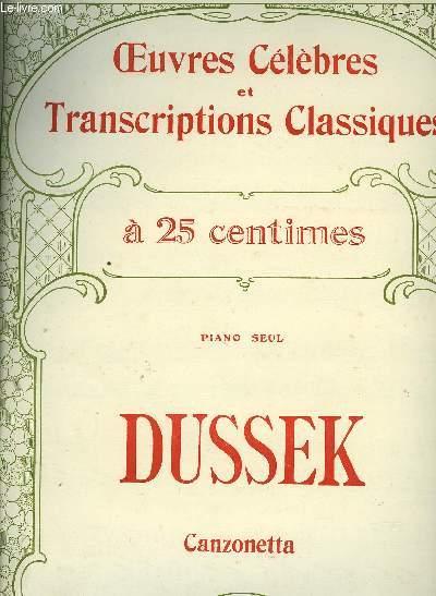 CANZONETTA rondo pour piano seul / OEUVRES CELEBRES ET TRANSCRIPTIONS CLASSIQUES N° 1059